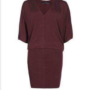 [All Saints] Maroon Candace Dress - Size 4